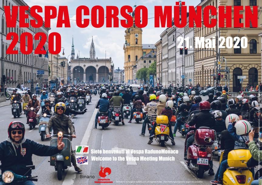 PLAKAT   VESPA CORSO MÜNCHEN (21.05.2020)